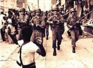 Picture of soliders and people of color